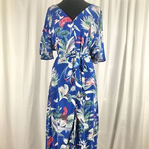 NWOT Cotton On Cobalt Blue Floral Maxi Dress